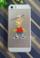 Чехол накладка для iPhone 5 / 5s / SE матово прозрачный Барт