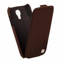 Кожаный чехол HOCO для Samsung Galaxy S4 mini i9190 коричневый - HOCO Duke flip Leather Case Brown