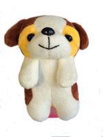 Чехол накладка силиконовый для iPhone 5 / 5s / SE со съёмной игрушкой собака
