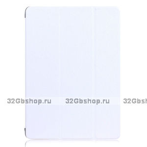 Белый чехол книжка обложка для iPad Air 2 - Silk Pattern Smart Cover & Crystal Back Case White