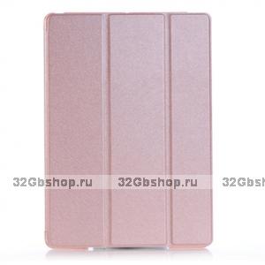 Золотой чехол книжка для iPad mini 3 / 2 - Silk Pattern Smart Cover & Crystal Back Case Gold