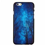 """Пластиковый чехол накладка для iPhone 6 Plus / 6s Plus (5.5"""") с рисунком синее небо и ночной лес"""