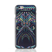 "Пластиковый чехол накладка для iPhone 6 Plus / 6s Plus (5.5"") с рисунком мопс"