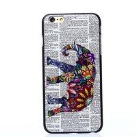 """Пластиковый чехол для iPhone 6 / 6s (4.7"""") накладка с рисунком цветной слон и газета"""