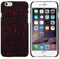 """Черный пластиковый чехол для iPhone 6 Plus / 6s Plus (5.5"""") светящийся в темноте красные звезды"""
