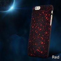 """Черный пластиковый чехол для iPhone 6 / 6s (4.7"""") красные звезды"""