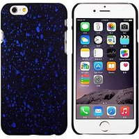 """Черный пластиковый чехол для iPhone 6 Plus / 6s Plus (5.5"""") светящийся в темноте синие звезды"""
