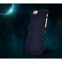 """Черный пластиковый чехол для iPhone 6 / 6s (4.7"""") синие звезды"""