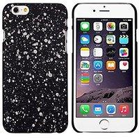 """Черный пластиковый чехол для iPhone 6 Plus / 6s Plus (5.5"""") светящийся в темноте белые звезды"""