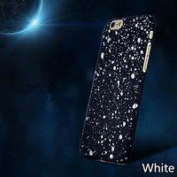 """Черный пластиковый чехол для iPhone 6 / 6s (4.7"""") белые звезды"""