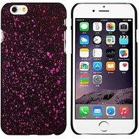 """Черный пластиковый чехол для iPhone 6 Plus / 6s Plus (5.5"""") светящийся в темноте розовые звезды"""