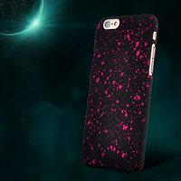 """Черный пластиковый чехол для iPhone 6 / 6s (4.7"""") розовые звезды"""