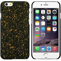 """Черный пластиковый чехол для iPhone 6 Plus / 6s Plus (5.5"""") светящийся в темноте желтые звезды"""