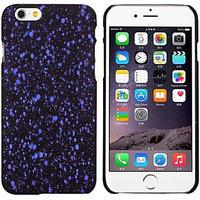 """Черный пластиковый чехол для iPhone 6 Plus / 6s Plus (5.5"""") светящийся в темноте фиолетовые звезды"""