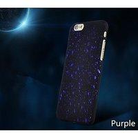 """Черный пластиковый чехол для iPhone 6 / 6s (4.7"""") фиолетовые звезды"""