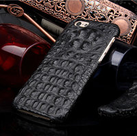 """Премиум чехол из кожи крокодила для iPhone 6 / 6s (4.7"""") черный"""