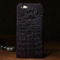 """Премиум чехол из кожи крокодила для iPhone 6 / 6s (4.7"""") бордовый"""