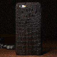 """Премиум чехол из кожи крокодила для iPhone 6 / 6s (4.7"""") коричневый"""