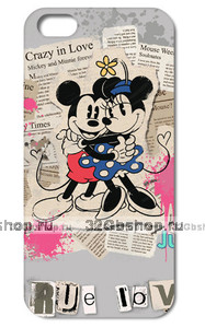 "Чехол накладка для iPhone 6 Plus / 6s Plus (5.5"") Мики и Мини обнимашки"