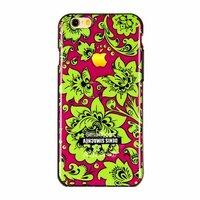 """Черный силиконовый чехол для iPhone 6 / 6s (4.7"""") Хохлома зеленая"""