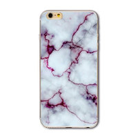 """Белый силиконовый чехол для iPhone 6 / 6s (4.7"""")  мрамор"""