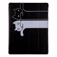 Черный чехол книжка обложка для iPad Air коты
