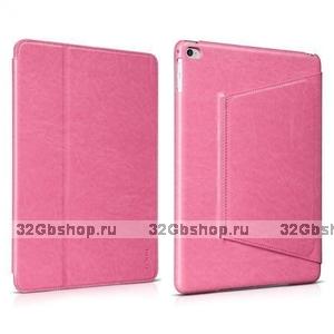 Розовый кожаный чехол HOCO для iPad Air 2 - HOCO Crystal series Leather Case Pink