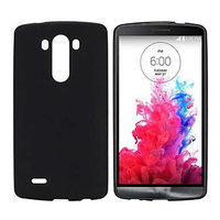 Черный матовый силиконовый чехол для LG G3