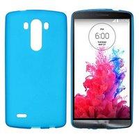 Голубой матовый силиконовый чехол для LG G3