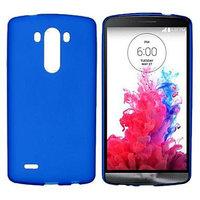 Синий матовый силиконовый чехол для LG G3