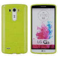 Зеленый глянцевый силиконовый чехол для LG G3