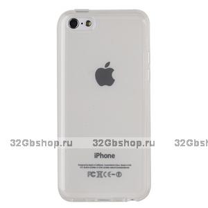 Прозрачный силиконовый чехол накладка для iPhone 5c
