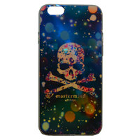 """Глянцевый силиконовый чехол для iPhone 6 / 6s (4.7"""") череп и звездное небо"""