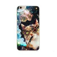 """Чехол пластиковый для iPhone 6 / 6s (4.7"""") накладка цветные котики"""