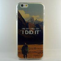 """Чехол пластиковый для iPhone 6 / 6s (4.7"""") накладка горы I DID IT"""