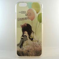 """Чехол пластиковый для iPhone 6 / 6s (4.7"""") накладка девочка и шарики"""