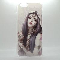 """Чехол пластиковый для iPhone 6 / 6s (4.7"""") с рисунком восточная девушка"""