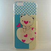 """Чехол пластиковый для iPhone 6 / 6s (4.7"""") накладка медвежата и сердечко"""
