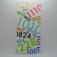 "Чехол пластиковый для iPhone 6 / 6s (4.7"") накладка с рисунком цифры"