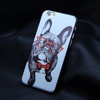 """Силиконовый чехол накладка для iPhone 6 / 6s (4.7"""") бульдог в очках"""