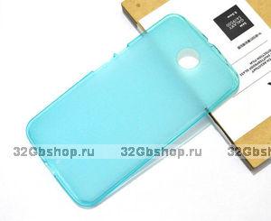 Силиконовый чехол для Goole Nexus 6 матовый голубой