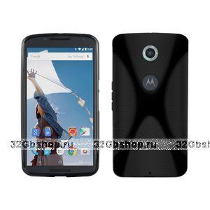 Черный силиконовый чехол для Goole Nexus 6 - X Style Silicone Case Black