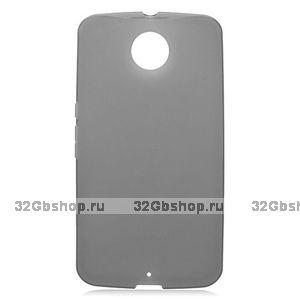Серый матовый силиконовый чехол для Goole Nexus 6