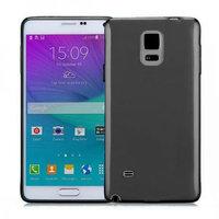 Черный прозрачный силиконовый чехол для Samsung Galaxy Note 4