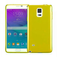 Желтый прозрачный силиконовый чехол для Samsung Galaxy Note 4