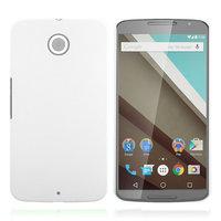 Матовый пластиковый чехол для Goole Nexus 6 белый с покрытием soft touch