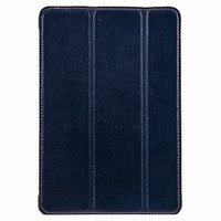 Синий кожаный чехол Melkco для iPad mini 3 / mini 2 Retina/ mini - Premium Leather Slimme Case Blue