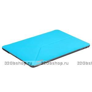 Голубой чехол книжка для iPad Air 2 - Birscon Simple Series Smart Case Blue