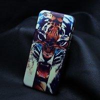 "Пластиковый чехол накладка для iPhone 6 / 6s (4.7"") тигр"