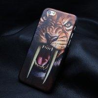 """Пластиковый чехол накладка для iPhone 6 / 6s (4.7"""") тигр саблезубый"""